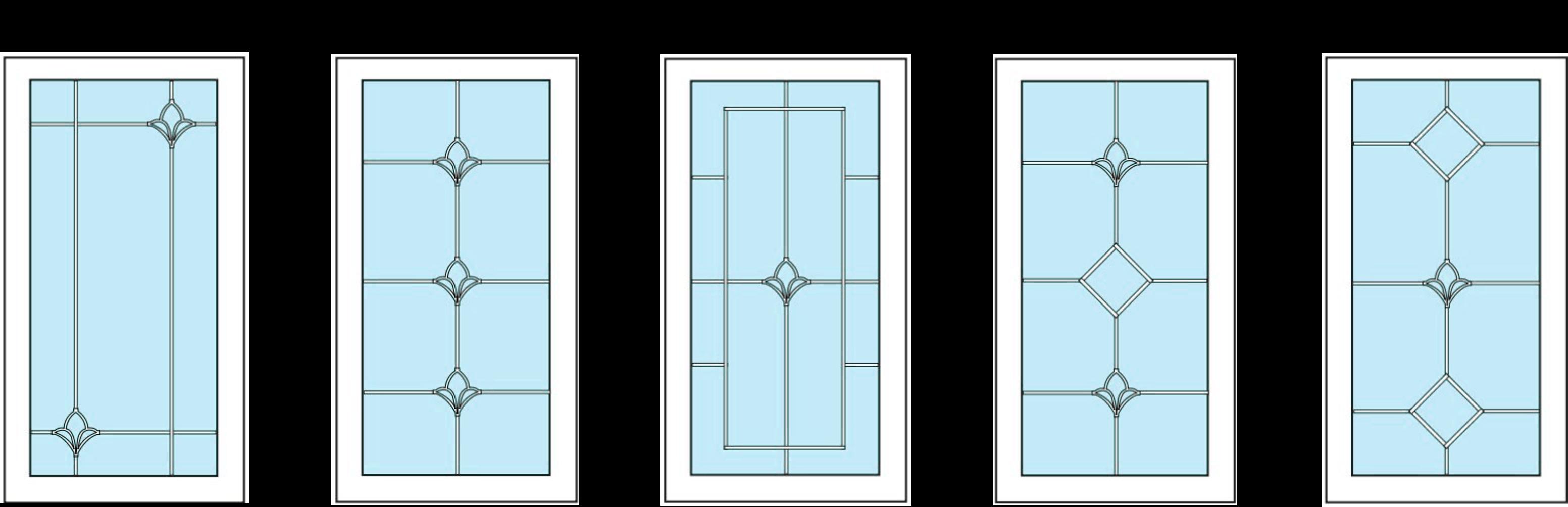 Варианты оформления стеклопакетов Л006-Л008